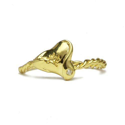 【JAM HOME MADE(ジャムホームメイド)】ディズニーアニメーション『美女と野獣』のハートローズリング -GOLD- / 指輪 レディース シルバー ゴールド ダイヤモンド 人気 おすすめ コラボ ディズニー トリプル ピンキー ファランジ