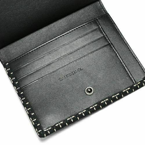 オンラインショップ限定 NUMBER(N)INE×印傳屋(印伝屋) ミディアムウォレット・がま札財布 -BLACK&WHITE- / 二つ折り財布