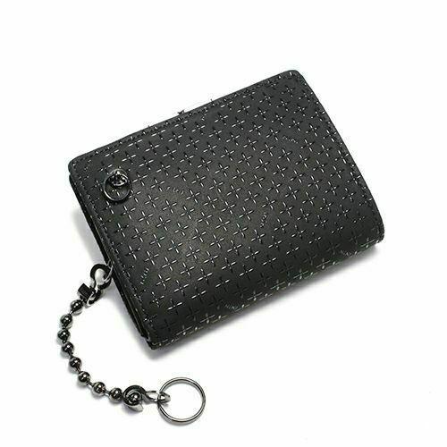 オンラインショップ限定 NUMBER(N)INE×印傳屋(印伝屋) ミディアムウォレット・がま札財布 -BLACK&BLACK- / 二つ折り財布