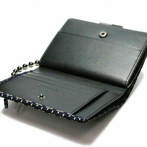 オンラインショップ限定 NUMBER(N)INE×印傳屋(印伝屋) ミディアムウォレット・がま札財布 -NAVY&WHITE- / 二つ折り財布 / 財布・革財布
