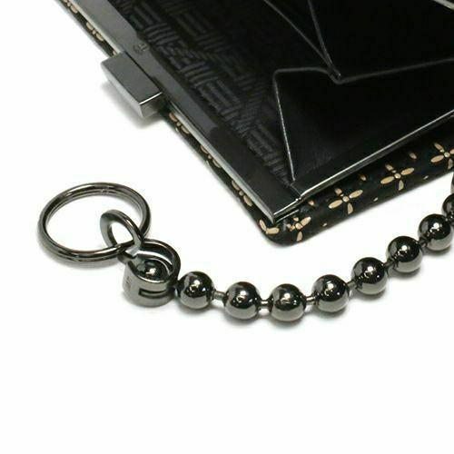 オンラインショップ限定 NUMBER(N)INE×印傳屋(印伝屋) ミディアムウォレット・がま札財布 -NAVY&WHITE- / 二つ折り財布