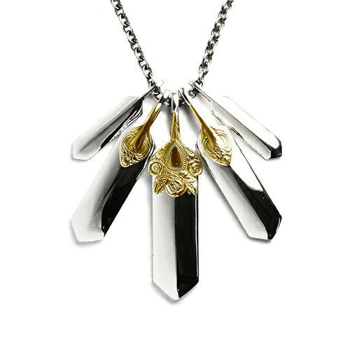 ネックレス / NEO X ネックレス SET -K18- メンズ シルバー ゴールド 925 チェーン シンプル ダガー モチーフ 人気 ブランド おすすめ プレゼント シンプル