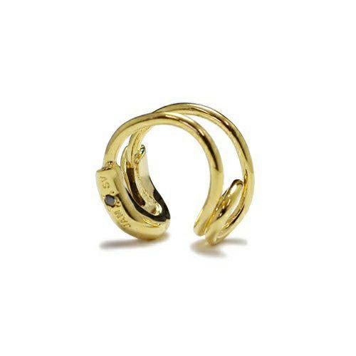 セーフティピンダイヤモンドイヤーカフ -GOLD- / 片耳