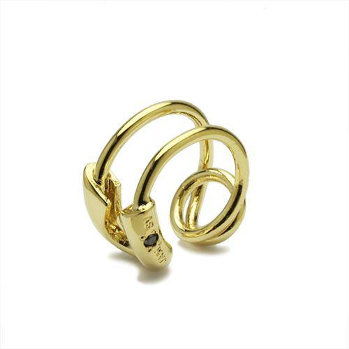 ピアス / セーフティピンダイヤモンドイヤーカフ -GOLD- メンズ レディース ゴールド 安全ピン 片耳 シンプル 人気 おすすめ ブランド プレゼント 誕生日 ギフト