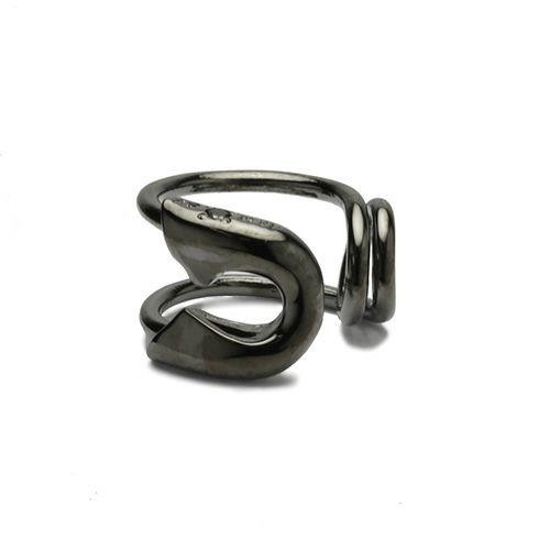 【JAM HOME MADE(ジャムホームメイド)】セーフティピンダイヤモンドイヤーカフ -BLACK- メンズ レディース ブラック 安全ピン 片耳 シンプル 人気 おすすめ ブランド プレゼント 誕生日 ギフト