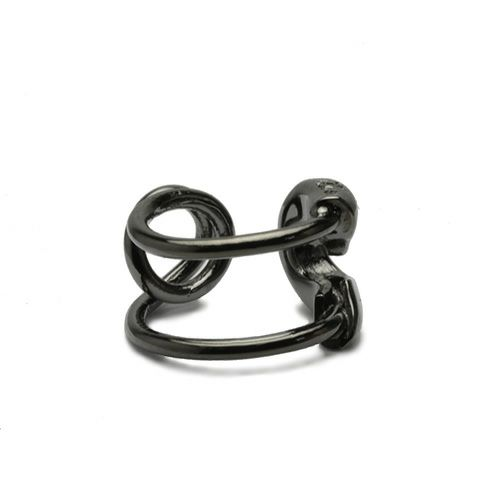 ピアス / セーフティピンダイヤモンドイヤーカフ -BLACK- メンズ レディース ブラック 安全ピン 片耳 シンプル 人気 おすすめ ブランド プレゼント 誕生日 ギフト