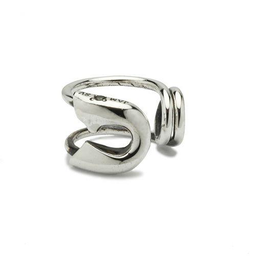 ピアス / セーフティピンダイヤモンドイヤーカフ -SILVER- メンズ レディース シルバード 安全ピン 片耳 シンプル 人気 おすすめ ブランド プレゼント 誕生日 ギフト