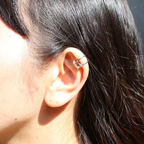 セーフティピンダイヤモンドイヤーカフ -SILVER- / 片耳
