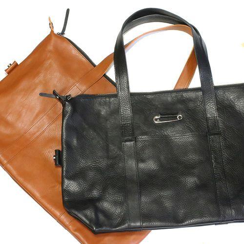 アリゾナレザーファスナートートバッグ -BROWN- / リュック・バッグ