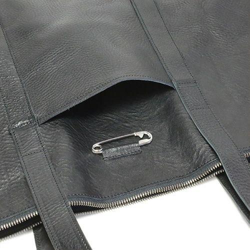 アリゾナレザーファスナートートバッグ -BLACK-