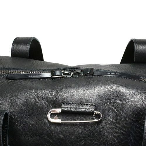 【JAM HOME MADE(ジャムホームメイド)】アリゾナレザーファスナートートバッグ -BLACK- メンズ レディース 人気 おすすめ ブランド ユニセックス イタリアンレザー 肩掛け ボディバック 旅行 艶