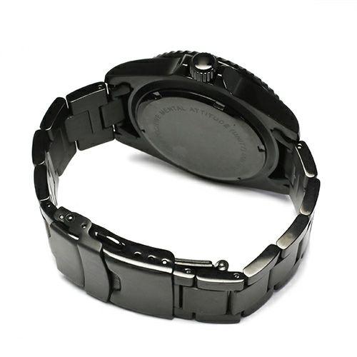 【JAM HOME MADE(ジャムホームメイド)】エメラルドジャムウォッチ -BLACK- / 腕時計 メンズ 色 ブラック エメラルド 誕生石 5月 クォーツ 10気圧 アナログ 日付表示 生活防水 20mm