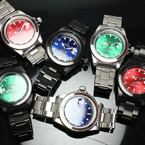 腕時計 / エメラルドジャムウォッチ -BLACK- メンズ 色 ブラック エメラルド 誕生石 5月 クォーツ 10気圧 アナログ 日付表示 生活防水 20mm