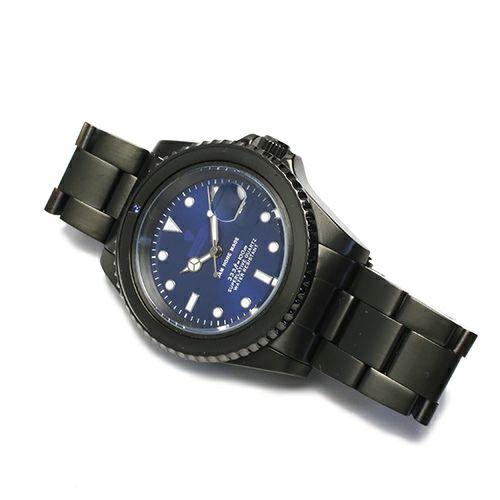腕時計 / サファイアジャムウォッチ -BLACK- メンズ 色 ブラック サファイヤ 誕生石 9月 クォーツ 10気圧 アナログ 日付表示 生活防水 20mm