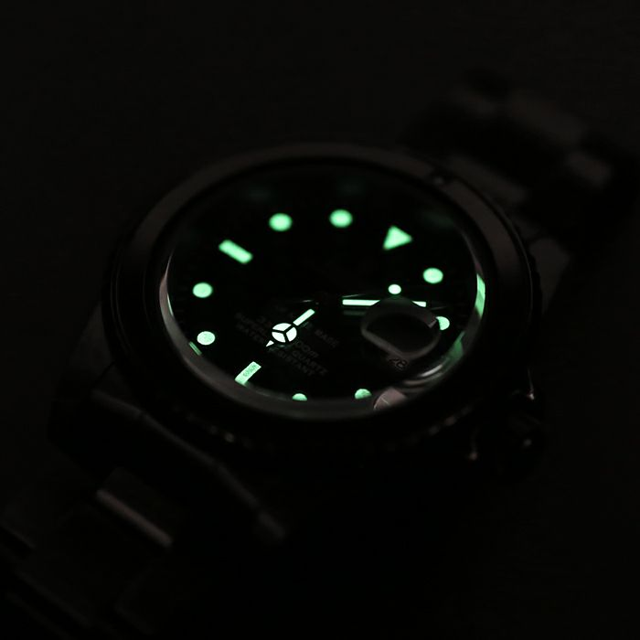 【JAM HOME MADE(ジャムホームメイド)】サファイアジャムウォッチ -BLACK- / 腕時計 メンズ 色 ブラック サファイヤ 誕生石 9月 クォーツ 10気圧 アナログ 日付表示 生活防水 20mm