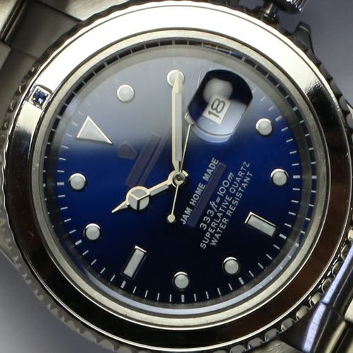 腕時計 / サファイアジャムウォッチ -SILVER- メンズ 色 シルバー サファイヤ 誕生石 9月 クォーツ 10気圧 アナログ 日付表示 生活防水 20mm
