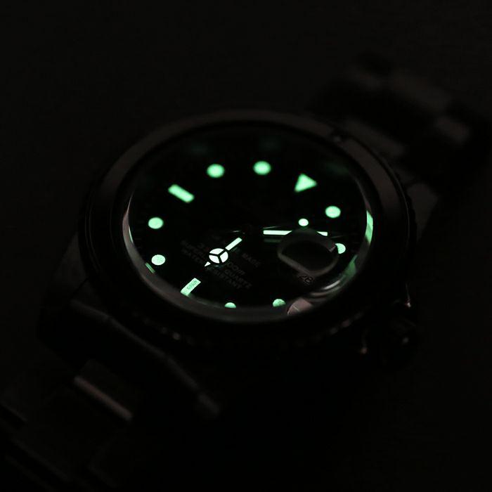 【JAM HOME MADE(ジャムホームメイド)】ルビージャムウォッチ -BLACK- / 腕時計  メンズ 色 ブラック ルビー 誕生石 7月 クォーツ 10気圧 アナログ 日付表示 生活防水 20mm