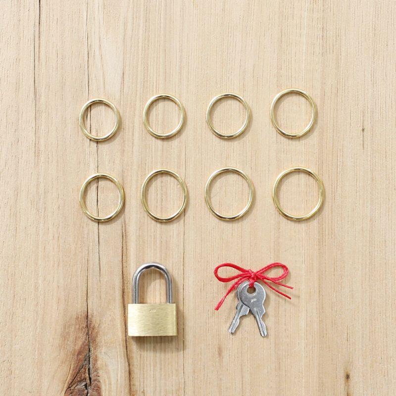 【JAM HOME MADE(ジャムホームメイド)】名もなき指輪キット - NAMELESS RING KIT -BRASS- /ペアリング メンズ レディース ペア 人気 ブランド おすすめ 手作り オリジナル 記念日 ペアリングキット