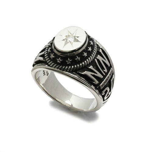 指輪 / ONLINESHOP限定 NUMBER(N)INE/ナンバーナイン ダイヤモンドカレッジグリング メンズ シルバー 人気 おすすめ ブランド コラボ 本場 アメリカ