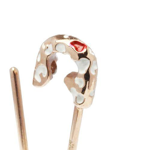 安全ピン(セーフティピン)ネックレス LEOPARD -PINK×WHITE- / ネックレス/レディース ネックレス