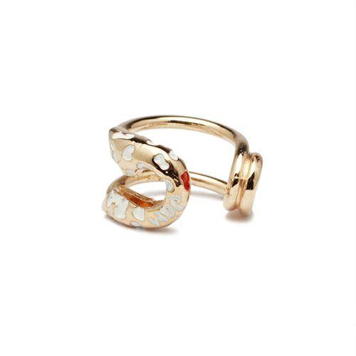 ピアス / セーフティピンイヤーカフ LEOPARD -PINK×WHITE- レディース ピンクゴールド 安全ピン 片耳 シンプル 人気 おすすめ ブランド プレゼント 誕生日 ギフト