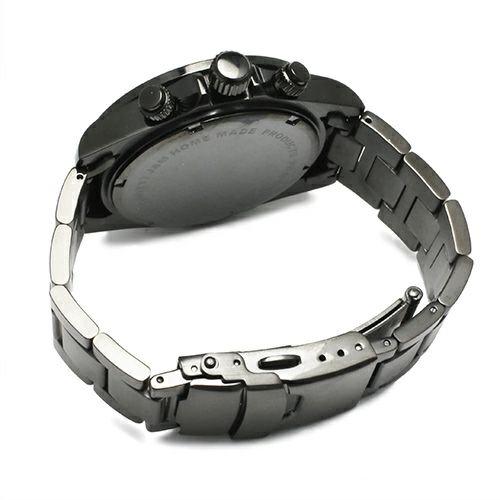 """腕時計 / シークレットミッキー""""MICKEY""""ウォッチ TYPE-1 -BLACK×MONO- メンズ レディース ユニセックス ペア ブラック モノクロ ディズニー 10気圧 アナログ クロノグラフ クォーツ 生活防水 20mm"""