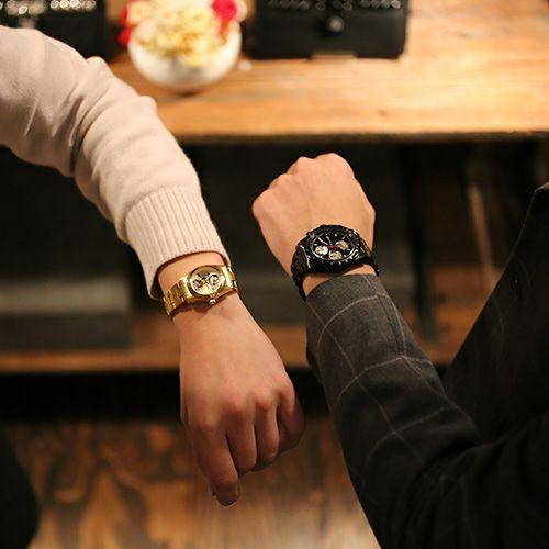 """シークレットミッキー""""MICKEY""""ウォッチ TYPE-1 -BLACK×MONO- / 腕時計"""