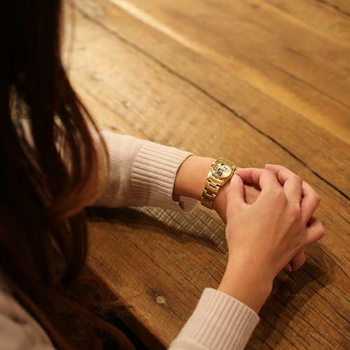 """シークレットミッキー""""MICKEY""""ウォッチ TYPE-4 ver.2 -GOLD×MONO- / 腕時計 -レディース- / 時計・腕時計 / レディース 時計・腕時計"""