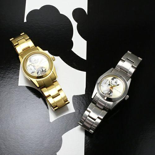 """シークレットミッキー""""MICKEY""""ウォッチ TYPE-4 ver.2 -SILVER×MONO- / 腕時計"""