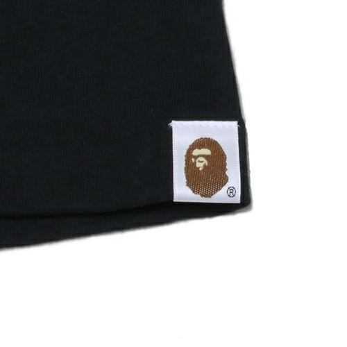 衣料品トップス / アベイシングエイプ/A BATHING APE FOIL Tシャツ -BLACK×SILVER- メンズ レディース ユニセックス ブラック サイズ 猿 ロゴ コラボ 限定