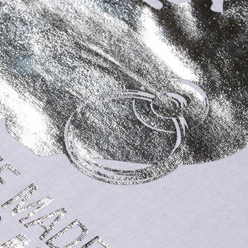 【JAM HOME MADE(ジャムホームメイド)】アベイシングエイプ/A BATHING APE FOIL Tシャツ -WHITE×SILVER- メンズ レディース ユニセックス ホワイト サイズ 猿 ロゴ コラボ 限定
