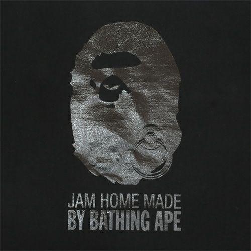 衣料品トップス / オンラインショップ限定 A BATHING APE/アベイシングエイプ FOIL Tシャツ -BLACK×BLACK- メンズ レディース ユニセックス ブラック サイズ 猿 ロゴ コラボ 限定