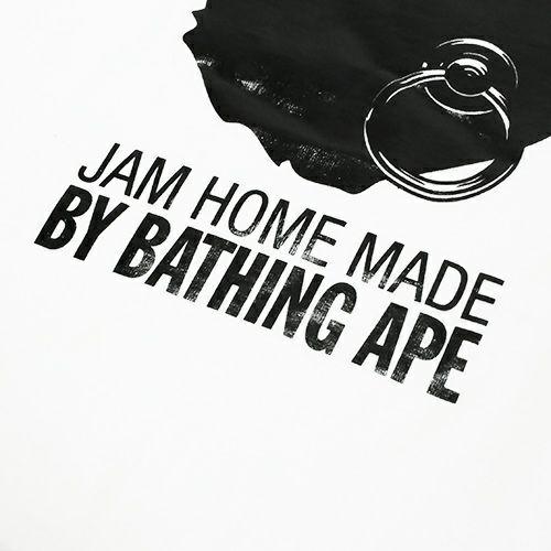 トップス / オンラインショップ限定 A BATHING APE/アベイシングエイプ FOIL TEE -WHITE×BLACK- メンズ レディース ユニセックス ホワイト サイズ 猿 ロゴ コラボ 限定