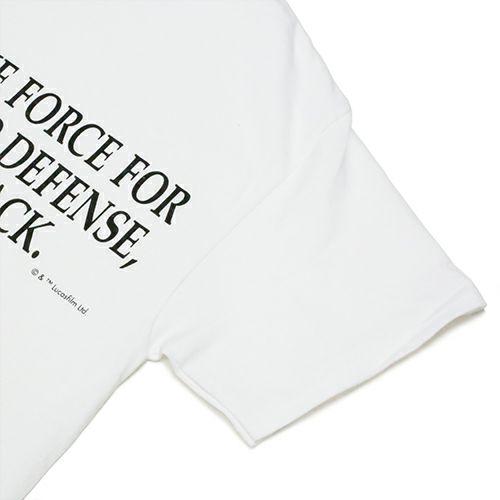 """衣料品トップス / スターウォーズ """"STAR WARS™"""" メッセージTシャツ TYPE-2 -WHITE-"""