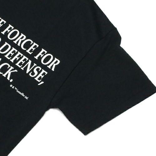 """衣料品トップス / スターウォーズ """"STAR WARS™"""" メッセージTシャツ TYPE-2 -BLACK-"""
