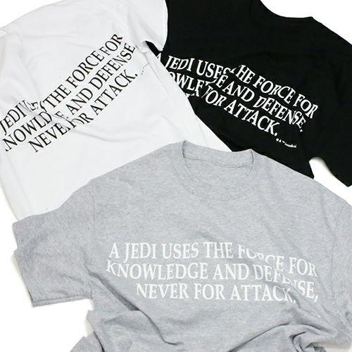 """【JAM HOME MADE(ジャムホームメイド)】スターウォーズ """"STAR WARS™"""" メッセージTシャツ TYPE-2 -BLACK-"""