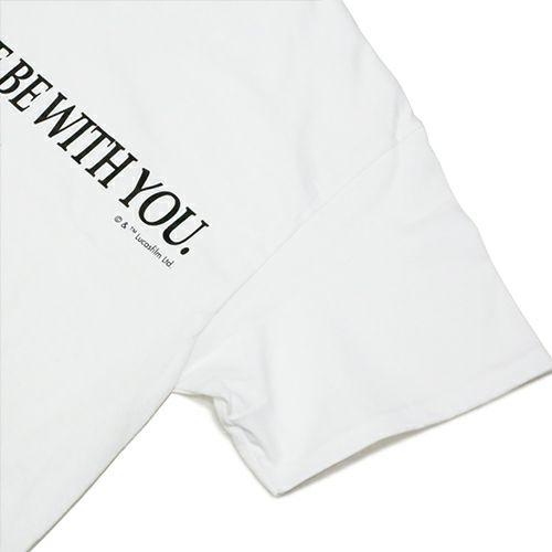 """衣料品トップス / スターウォーズ """"STAR WARS™"""" メッセージTシャツ TYPE-1 -WHITE-"""
