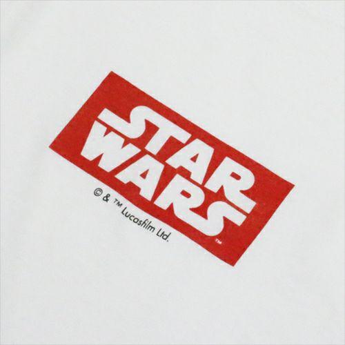 """衣料品トップス / スターウォーズ """"STAR WARS™"""" ロゴタイプTシャツ -WHITE-"""