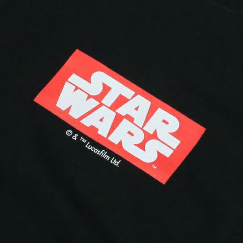 """衣料品トップス / スターウォーズ """"STAR WARS™"""" ロゴタイプTシャツ -BLACK-"""