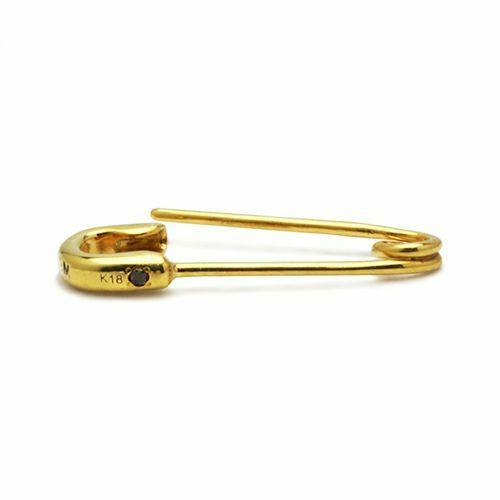 ピアス / セーフティピンダイヤモンドピアス M -K18YG- メンズ レディース ゴールド 安全ピン 片耳 シンプル 人気 おすすめ ブランド プレゼント 誕生日 ギフト 18金
