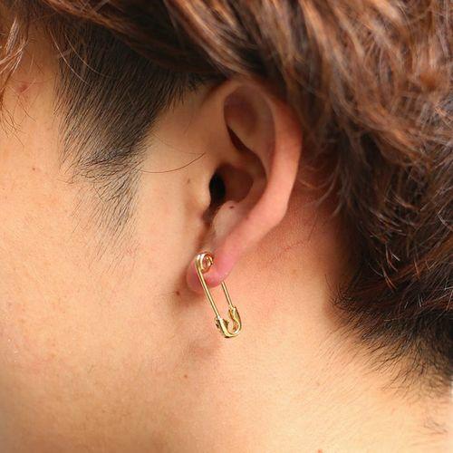 セーフティピンダイヤモンドピアス S -K18YG- / 片耳