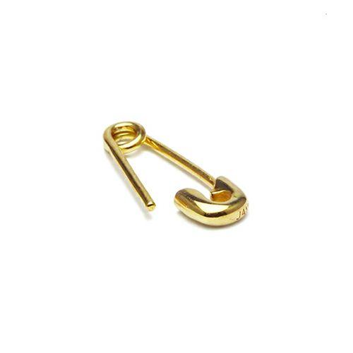セーフティピンダイヤモンドピアス XS -K18YG- / 片耳