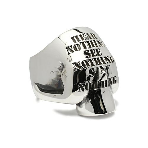 【JAM HOME MADE(ジャムホームメイド)】スリーワイズモンキーズスカルリング / 指輪 メンズ シルバー 925 人気 おすすめ ブランド ガイコツ ドクロ ごつい ボリューム 三猿