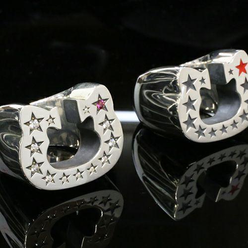 【JAM HOME MADE(ジャムホームメイド)】ハローキティ Hello Kitty コラボレーション ホースシューリング -PAVE- / 指輪 メンズ シルバー 925 人気 おすすめ ブランド ダラー コラボ