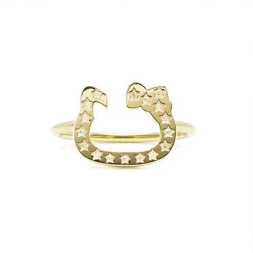 【JAM HOME MADE(ジャムホームメイド)】ハローキティ/Hello Kitty ホースシューリング K10 / 指輪 ゴールド 人気 おすすめ ブランド ダラー コラボ