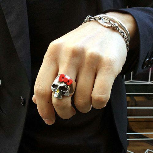 ハローキティ/Hello Kitty スカルフェイスリング / 指輪