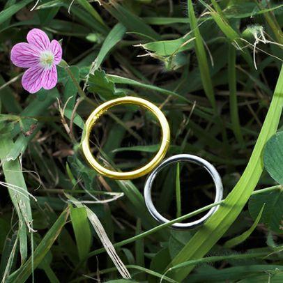 世界にひとつだけの指輪 PT900&K18YG / 結婚指輪・マリッジリング