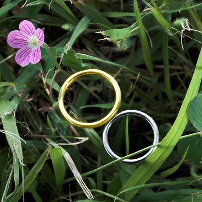 【JAM HOME MADE(ジャムホームメイド)】世界にひとつだけの指輪 PT900&K18YG / 結婚指輪・マリッジリング ウエディングリング