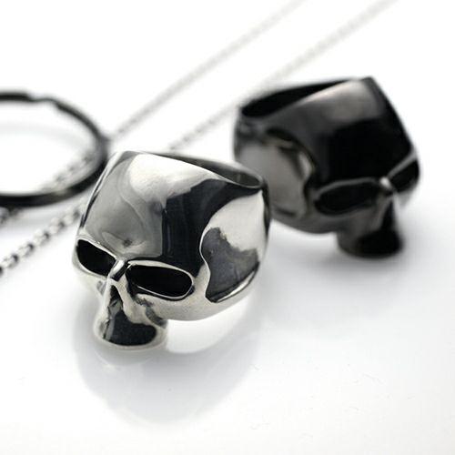 指輪 / レボリューションスカルリング -BLACK- メンズ シルバー 925 人気 おすすめ ブランド ドクロ ガイコツ ダイヤモンド ごつい