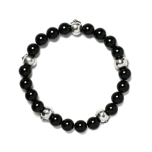 スカル数珠ブレスレット -GROSS ONYX-